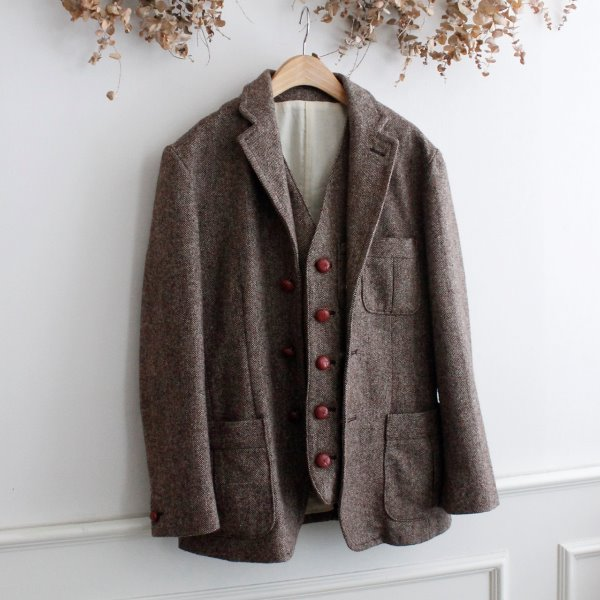 ANTIQULOTHES WORKS _ WOOL TWEED 2 PIECE