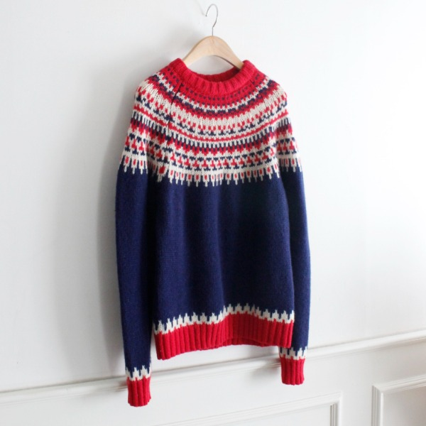 BLOCK BUSTER _ 100% WOOL KNIT