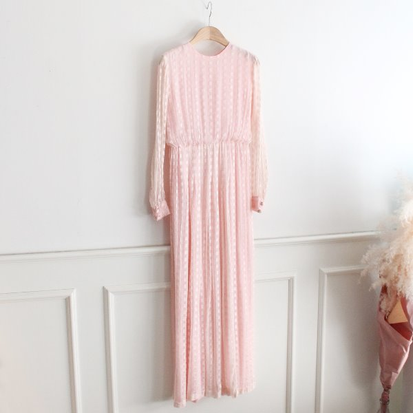 60~70's HEINZ RIVA _ 100% PURE SILK DRESS