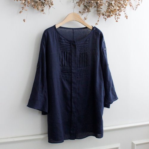 YOSHIE INABA _ LINEN 100% BLOUSE