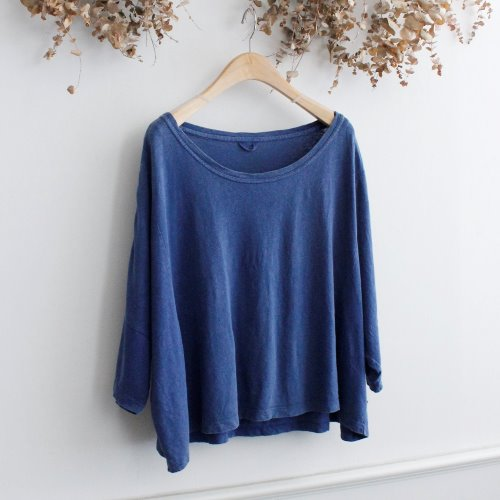 GOHEMP _ INDIGO HEMP COTTON TEE