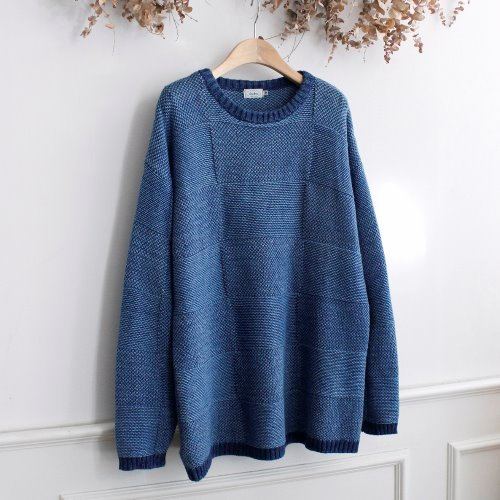 FADES _ INDIGO COTTON KNIT