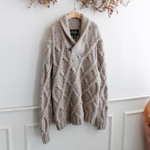 EDDIE BAUER _ HEAVY WOOL KNIT
