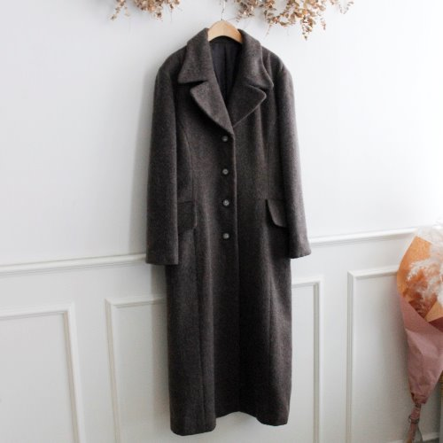 MOHAIR BLEND LONG COAT
