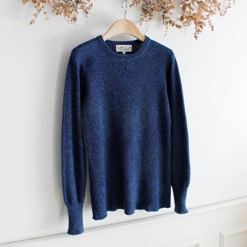 PINCEAU x WARREN SCOTT INDIGO COTTON KNIT